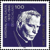 [The 50th Anniversary of the Death of Cardinal von Galen, type BJI]