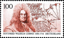 [The 350th Anniversary of the birth of Gottfried Wilhelm Leibniz Birth, Philosopher and Mathematician, type BJZ]