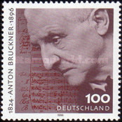 [The 100th Anniversary of the Death of Anton Bruckner, Composer, type BKX]