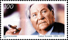 [The 100th Anniversary of the Birth of Carlo Schmid, Politician, type BLD]