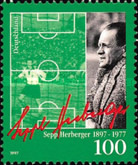 [The 100th Anniversary of the Birth of Sepp Herberger, Football coach and Player, type BLF]