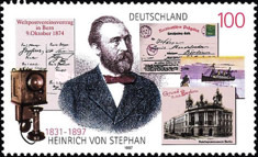 [The 100th Anniversary of Heinrich von Stephan, Postmaster, type BLV]