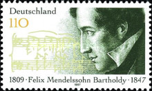 [The 150th Anniversary of the Death of Felix Mendelssohn Batholdy, Composer, type BNK]