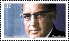 [The 100th Anniversary of the Birth of Thomas Dehler, Politician, type BNU]