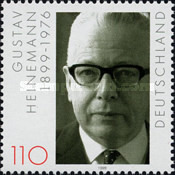 [The 100th Anniversary of the Birth of Gustav Heinemann, Politician, type BRU]
