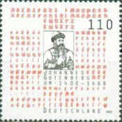 [The 600th Anniversary of the Birth of Johannes Gutenberg, 1397-1468, type BSZ]