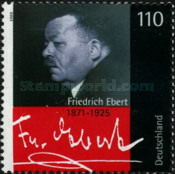 [The 70th Anniversary of the Death of Friedrich Ebert, 1871-1925, Typ BTB]