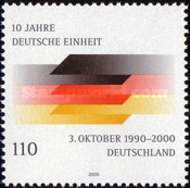 [The 10th Anniversary of the Re-union of Germany, type BUQ]