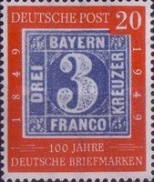 [The 100th Anniversary of the German Stamp, type C]