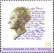 [The 100th Anniversary of the Birth of Reinhold Schneider, 1903-1958, type CBX]