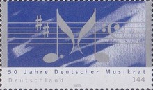 [The 50th Anniversary of the German Music Council, type CCE]