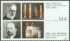 [The 150th Anniversary of the Birth of Nobel Prize Winners Paul Ehrlich & Emil Adolph von Behring, Typ CDR]