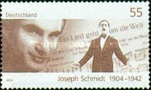 [The 100th Anniversary of the Birth of Joseph Schmidt, 1904-1942, Typ CDS]