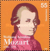 [The 250th Anniversary of the Birth of Wolfgang Amadeus Mozart, 1756-1791, type CIA]
