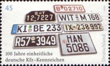 [The 100th Anniversary of unified German Number Plates, type CJH]