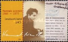 [The 100th Anniversary of the Birth of Hannah Arendt, 1906-1975, type CJV]