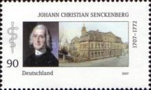 [The 300th Anniversary of the Birth of Johann Christian Senckenberg, 1707-1772, Typ CKL]