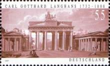 [The 275th Anniversary of the Birth of Carl Gotthard Langhans, 1732-1808, Typ CMC]