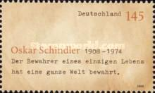 [The 100th Anniversary of the Birth of Oskar Schindler, 1908-1974, type CMW]