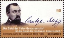 [The 200th Anniversary of the Birth of Hermann Schulze-Delitzsch, 1808-1883, type CNM]