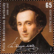 [The 200th Anniversary of the Birth of Felix Mendelssohn Bartholdy, 1809-1847, type COP]