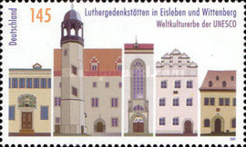 [World Heritage of UNESCO - Luther Memorials in Eisleben and Wittenberg - Joint Issue with the UN, type CPF]
