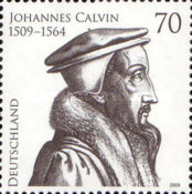 [The 500th Anniversary of the Birth of Johannes Calvin, 1509-1564, type CPM]
