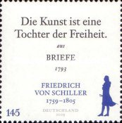 [The 250th Anniversary of the Birth of Friedrich von Schiller, 1759-1805, Typ CQF]