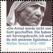 [The 100th Anniversary of the Birth of Mother Teresa, 1910-1997, type CRT]