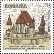 [UNESCO World Heritage - Fortified Church of Biertan - Joint Issue with Romania, type CUC]
