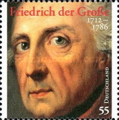 [The 300th Anniversary of the Birth of Frederick the Great, 1712-1786, type CUT]