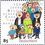 [The 150th Anniversary of the German Choral Association, type CVQ]