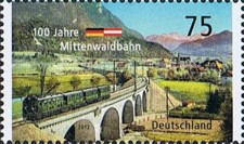 [The 100th Anniversary of the Mittenwald Railway - Joint Issue with Austria, type CVZ]