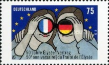 [The 50th Anniversary of the Élysée Treaty - Joint Issue with France, Typ CWY]