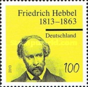[The 200th Anniversary of the Birth of Friedrich Hebbel, 1813-1863, Typ CXG]