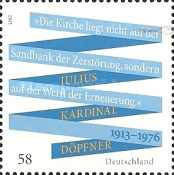 [The 100th Anniversary of the Birth of Julius Kardinal Döpfner, 1913-1976, Typ CYI]