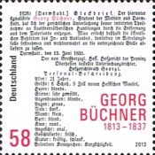 [The 200th Anniversary of the Birth of Georg Büchner, 1813-1837, Typ CYN]