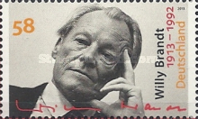 [The 100th Anniversary of the Birth of Willy Brandt, 1913-1992, Typ CYS]