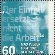 [The 150th Anniversary of the Birth of Max Weber, 1864-1920, type CZQ]