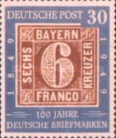 [The 100th Anniversary of the German Stamp, type D]