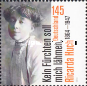 [The 150th Anniversary of the Birth of Ricarda Huch, 1864-1947, Typ DAH]