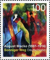 [Paintings - The 100th Anniversary of the Death of August Macke, 1887-1914, type DAQ]