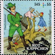 [Charity Stamps - Little Red Riding Hood, Typ DDT]