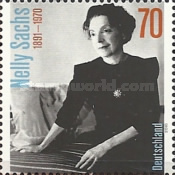 [The 125th Anniversary of the Birth of Nelly Sachs, 1891-1970, Typ DEC]