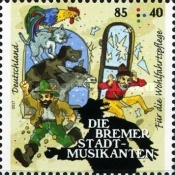 [Charity Stamps - Town Musicians of Bremen, type DFV]