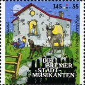[Charity Stamps - Town Musicians of Bremen, type DFW]