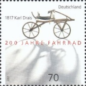 [The 200th Anniversary of the Invention of the Bicycle by Karl Drais, 1785-1851, type DGV]