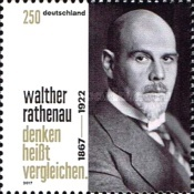[The 150th Anniversary of the Birth of Walther Rathenau, 1867-1922, type DHH]