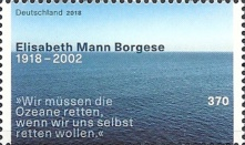 [The 100th Anniversary of the Birth of Elisabeth Mann Borgese, 1918-2002, type DIP]