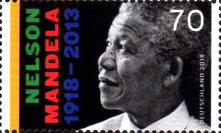 [The 100th Anniversary of the Birth of Nelson Mandela, 1918-2013 - Joint Issue with South Africa, type DJI]